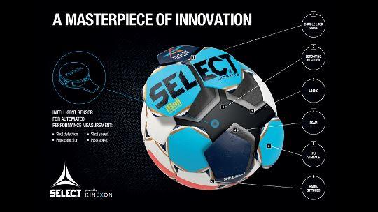 EHF, SELECT und KINEXON präsentieren den iBall und die Ball-Tracking-Technologie beim VELUX EHF FINAL4 2018 in Köln