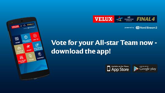 Wähle dein All-Star Team in der neuen VELUX EHF FINAL4 App
